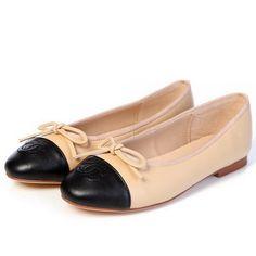 Zeal Shoes Chanel Sheepskin Leather Ballerina Flat CH0890 Apricot Replica