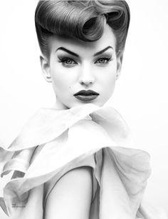 Loni Baur, Makeup Artist - #vintage #pinup #burlesque #hairstyle