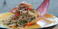 Banana Blossom Pork and Prawn Salad (Yum Hua Plee)