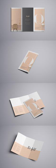 Advanced Trifold Brochure Free PSD Mockup | Pixlov