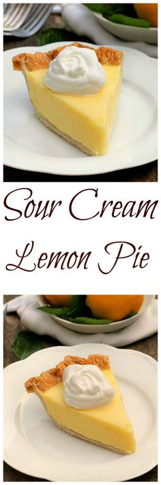 Sour Cream Lemon Pie...magnificent, smooth, creamy, light and refreshing. It will quickly become a favorite in your house all year round.