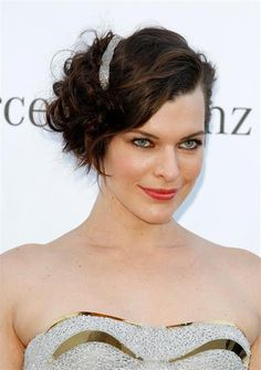Milla Jovovich short hairstyle