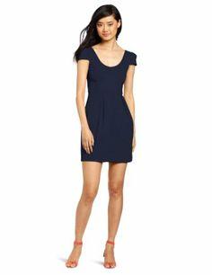 Amanda Uprichard Women's Hilary Dress, Navy Blue, Medium