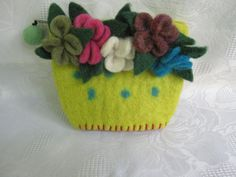 Felted WalletFLOWERS by cityofangel on Etsy, $22.00