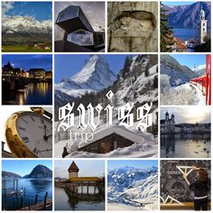 Switzerland. Photo tiles mosaic. ANIA W PODRÓŻY travel blog and photography