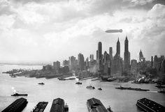 The Hindenburg over New York City