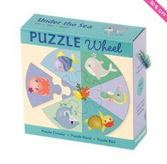 Puzzle Wheels - Under the Sea - Bobangles #Mudpuppy #puzzle #kids #sea