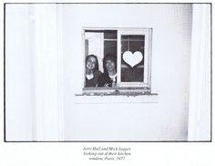 Jerri Hall and Mick Jagger, Paris 1977.