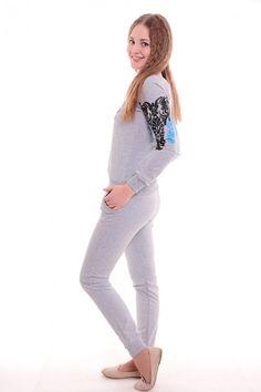 Спортивный костюм А3646 Размеры: 42,44,46,48,50 Цвет: серый Цена: 900 руб.  http://optom24.ru/sportivnyy-kostyum-a3646/  #одежда #женщинам #спортивныекостюмы #оптом24