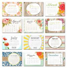 2015 calendar desk calendar desktop calendar optional by GoodFrau