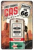 PLACA GARAGE ROUTE 66 GAS