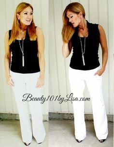 Simple Black & White, Wide Leg Pants, Beauty101byLisa