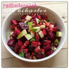 Rødbedesalat med kikæerter og æble - Vanløse blues #lowcarb #salad #beets #apple