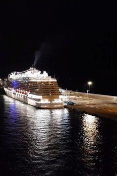 Princess Cruises' ship, Majestic Princess, docked in Barcelona cruise port. Cruise Europe, Cruise Port, Cruise Travel, Cruise Vacation, Cruise Ship Pictures, Cruise Tips Royal Caribbean, Hawaiian Cruises, Best Cruise Ships, Great Vacation Spots