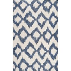 Handwoven Penticton Blue Wool Rug (5' x 8') - Overstock™ Shopping - Great Deals on 5x8 - 6x9 Rugs