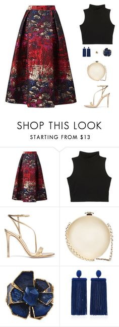 """Untitled #5173"" by mdmsb on Polyvore featuring Gianvito Rossi, Chanel and Oscar de la Renta"