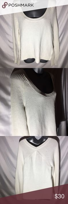 Victoria's Secret Stitched Heavy Sweater size L Great condition! Beautiful details. Retails for $150! Size Large Victoria's Secret Sweaters Crew & Scoop Necks