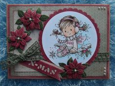 A Christmas card created with Wee Holly digi design.