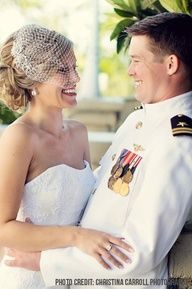 We LOVE Her Updo With The Birdcage Veil