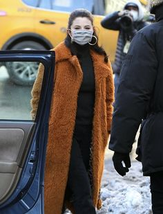 Selena Gomez Selena Gomez, Fur Coat, Jackets, Fashion, Down Jackets, Moda, Fashion Styles, Fashion Illustrations, Fur Coats