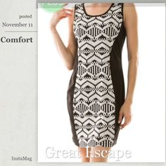 "💥2X HP💥TRIBAL CONTRAST SIDE PANEL DRESS Pretty, curve hugging bodycon! Very well made. 79% polyester/18% rayon/3% spandex. Length: 34.5"" NWOT. tla2 Dresses"