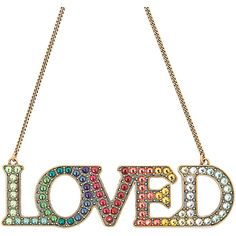 Gucci Loved crystal-embellished necklace ($750) ❤ liked on Polyvore featuring jewelry, necklaces, gucci necklace, sparkly necklace, lobster clasp necklace, rainbow jewelry and gucci jewelry Gucci Jewelry, Luxury Jewelry, Jewelery, Unique Jewelry, Bohemian Jewelry, Pearl Jewelry, Silver Jewelry, Jewelry Necklaces, Bracelets