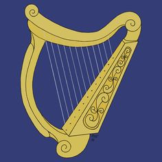 First PoD sale of June! SOLD through Redbubble to an admirer of art in the US: Sticker of Irish Harp, Size Small. Thank you, buyer! Much appreciated! Framed Prints, Canvas Prints, Art Prints, Bristol Board, Harp, Wall Tapestry, Decorative Throw Pillows, Art Boards, Irish