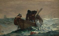 The Herring Net by Winslow Homer. Realism. genre painting