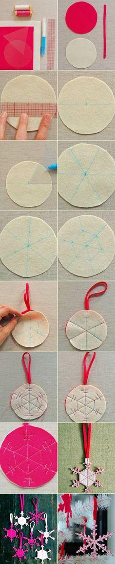 Felt snowflakes | DIY Stuff