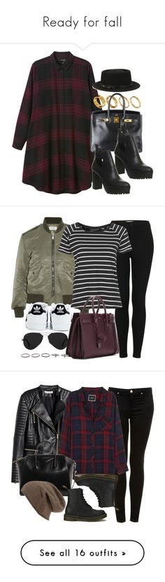 """""""Ready for fall"""" by vany-alvarado ❤ liked on Polyvore featuring Monki, Made, Hermès, Office, Deena & Ozzy, Topshop, Yves Saint Laurent, adidas, Ray-Ban and Luxury Fashion"""