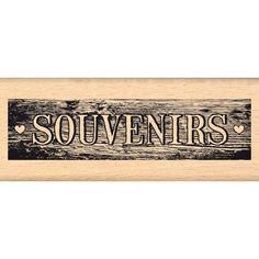 Tampon bois PLANCHE DE SOUVENIRS