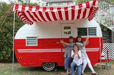 The original Cha Cha Chicks!  This is my baby camper - my big one is 22-feet and just as cute!