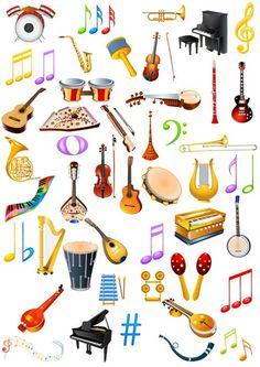 Клипарт Музыкальные инструменты  Музыкальные знаки