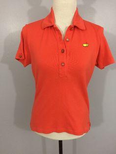 Bobby Jones Women's Orange Masters Augusta National Polo Golf Shirt Small  | eBay