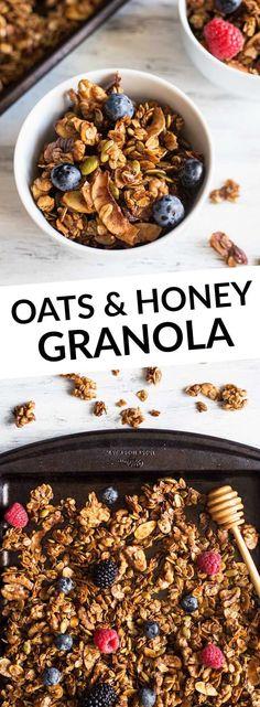 Easy Oats and Honey Granola
