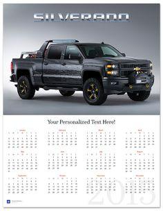Silverado Black Ops 2015 Wall Calendar