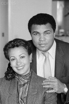 Muhammad Ali with third wife, Veronica Porsche