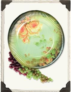 BUTTERY ROSES PAPER PLATES (SET OF 16) - OVERLY FANCY & Gold Porcelain Paper Dessert Plates (set of 12) from @BHLDN ...
