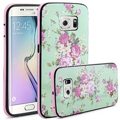 S6 Edge Case, LK [Shock Absorbent] Samsung Galaxy S6 Edge Case, Fashion Flower Design Pattern Slim Fit Rugged Hybrid Armor Case with Bumper Frame for Samsung Galaxy S6 Edge LK http://www.amazon.com/dp/B00WR32I0I/ref=cm_sw_r_pi_dp_pXdsvb1XZE12C