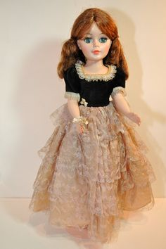 Madame Alexander 1970s Vintage Jacqueline Doll Cissy Size 20. $75.00, via Etsy.  She has such a pretty face, and obviously similar body.