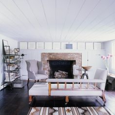 File Style: Mark Cunningham - % Living Room Storage, Home Living Room, Living Spaces, Neutral Walls, Neutral Colour Palette, Living Room Inspiration, Interior Inspiration, Country House Design, Barn House Design