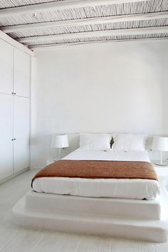 ♂ Minimalist neutral bedroom design