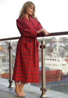 b6fd041b5a Irish Country flannel Nightrobe- Red Tartan (LV27)   £40.84 Including VAT  Donegal