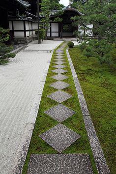 The Zen garden in Ryousokuin temple in Kenninji #japan #kyoto