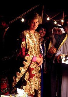 """lady-diana-of-wales:  """" Princess diana in Kuwait  """""""