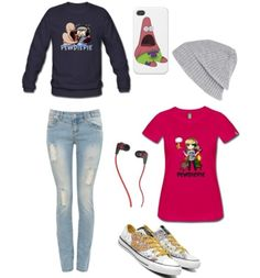 Pewdiepie inspired outfit.: I'd wear everything except the T shirt cuz let's be honest. ITS UGLAYY!