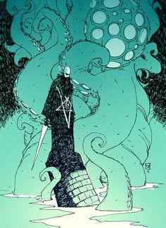 made by: Skottie Young ,'Rasputin' - illustration Comic Book Artists, Comic Artist, Comic Books Art, Cthulhu, Illustrations, Illustration Art, Reference Manga, Character Art, Character Design