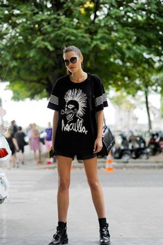 street cred. Cat #offduty in Paris. #CatherineMcNeil