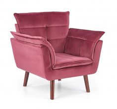 Fotoliu tapitat Rezzo Burgundy #homedecor #interiordesign #inspiration #burgundy #decoration Tub Chair, Accent Chairs, Burgundy, New Homes, Interior Design, House, Inspiration, Furniture, Home Decor