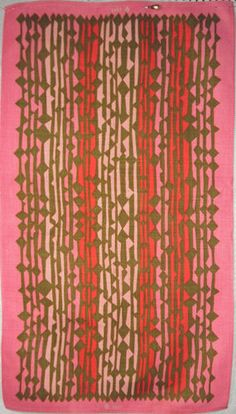 Vintage Vera Neumann Linen Towel 1960s 1970s | eBay